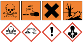 Control of Substances Hazardous to Health (COSHH). Free COSHH Risk Assessment template included on TAM. CLP images for the new Globally Harmonised System of Classification and Labelling of Chemicals (GHS).
